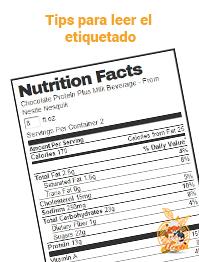 Aprende a leer el etiquetado de los productos que consumimos.