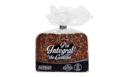 Rebanadas Pan integral de centeno
