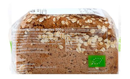 Pan ecológico 100% integral con pipas de girasol